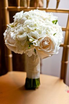 Gorgeous White Rose and Hydrangea Bouquet - My wedding ideas
