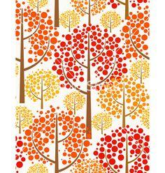 Autumn forest - seamless pattern vector - by isveta on VectorStock®