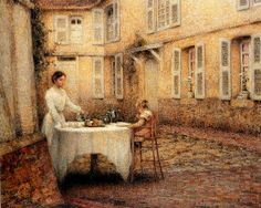 We Love Paintings — Dinner in the Garden (1903), by Henri Le Sidaner
