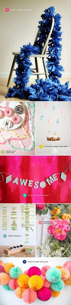 Festive Garland Ideas - Oh Happy Day!