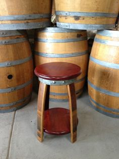 WINE BARREL PRODUCTS, PATIO, FURNITURE, ADIRONDACK, CHAIR