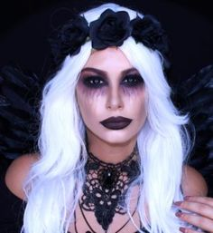 dark angel halloween makeup                                                                                                                                                     More