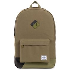 Herschel Supply Co. Heritage Backpack - Army/Army PU/Black Print