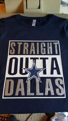Straight Outta Dallas Dallas Cowboys Custom Tshirt Gift by C2CTeez Dallas  Cowboys Shirts e54801db2