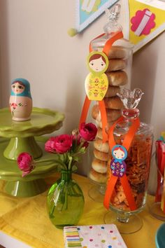 Buffet able for Russian Doll Party