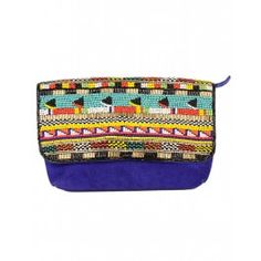 EXCLUSIVE: Electric Blue Masai Clutch by Olivia Dar - #Multicolor – Beaded Jewelry – Fashion Jewellery - #Style – Designer Jewelry – Shop Contemporary Jewelry and Accessories Online at #ExclusivelyIn #Multicolour #Belt #Quirky – Vibrant Collar Necklace – Hair accessories