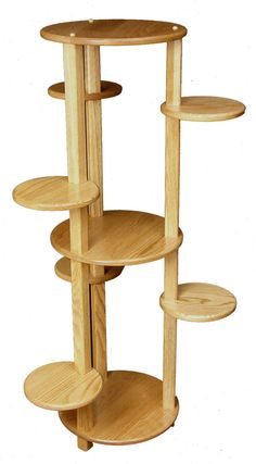 Plant Stand Ideas -Diy Plant Stand Ideas - SO SWEET. i want Small Multi-Tiered Plant Stand Succulent Planter Ceramic Planter Bamboo Planter Stand Ceramic Indoor Gardening Supplies, Wooden Greenhouses, House Plants Decor, Diy Plant Stand, Furniture Factory, Wooden Flowers, Amish Furniture, Flower Stands, Plant Shelves