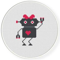 FREE for May 11 2015 Only - Robogirl Cross Stitch Pattern
