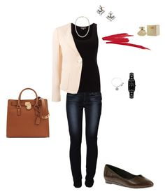 """OOTD 20/05/2016"" by ladykbaez on Polyvore featuring moda, Alex and Ani, Levi's, Jigsaw, Emporio Armani, Soft Style By Hush Puppies, Mikimoto, Michael Kors, BaubleBar e Karl Lagerfeld"