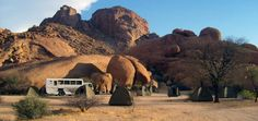 One of our favourite campsites at Spitzkoppe in Namibia, its so quiet and the stars at night are incredible! Travel Africa overland style with Nomad Adventure Tours