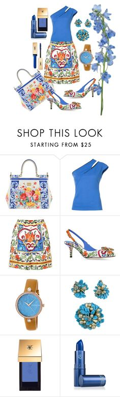 """""""FLOWERS"""" by grettelcabrera ❤ liked on Polyvore featuring Dolce&Gabbana, Thierry Mugler, Bertha, John Lewis, Lipstick Queen and Yves Saint Laurent"""