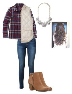 """""""Excited for fall """" by nicole-piper ❤ liked on Polyvore featuring Frame Denim, Patagonia, J.Crew, ALDO and Forever 21"""