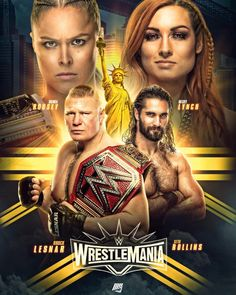 WWE WRESTLEMANIA 35 POSTER Wrestling Posters, Wrestling Wwe, Wwe Ppv, Wwe Seth Rollins, Wrestlemania 35, Wwe Superstar Roman Reigns, Wwe Pictures, Wwe Women's Division, Wwe Wallpapers