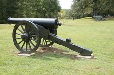 32-Pounder James Rifle at Shiloh  This photo shows one of the large 32-Pounder James Rifle manning the perimeter around Pittsburg Landing. The heavy concentration of Union guns near the landing helped to hold this important beachhead on April 6, 1862.
