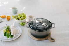 The Signature Round Casserole makes the ideal gift for keen cooks and entertainers alike. Whether you're starting Mum's collection or adding some new choices and colours, a cast iron casserole will provide a lifetime of pleasure. Le Creuset, Cast Iron, Casserole, Cooking, Choices, Colours, Grey, Inspiration, Collection
