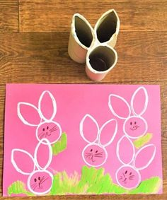 Toilet paper roll bunny stamp easter projects, easter crafts for kids, crafts to do Easter Crafts For Toddlers, Bunny Crafts, Easter Crafts For Kids, Crafts For Teens, Diy And Crafts, Easter Ideas, Fall Crafts, Easter Projects, Art Projects