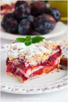 Śliwkowiec sypany - I Love Bake Desserts Menu, Dessert Cake Recipes, Sweets Cake, Healthy Desserts, Fruit Cakes, My Favorite Food, Favorite Recipes, Yummy Cakes, Amazing Cakes