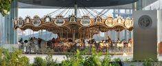 Ride Jane's Carousel in Brooklyn Bridge Park. This completely restored carousel made in 1922 will bring back magical childhood memories for you, or create new ones for the little ones.