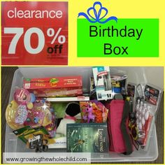 build a Birthday Box saves money and teaches children about economics