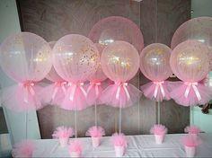 """2,275 Likes, 140 Comments - Inspire sua Festa ® (@inspiresuafesta) on Instagram: """"Lindos esses balões envolvidos com tule e decorados com confetes.  By @boutique_balloons_melbourne…"""""""