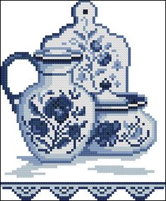 This Pin was discovered by dew Tiny Cross Stitch, Xmas Cross Stitch, Cross Stitch Kitchen, Cross Stitch Cards, Cross Stitching, Blackwork Embroidery, Cross Stitch Embroidery, Hand Embroidery, Cross Stitch Patterns