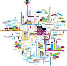 life map Royalty Free Stock Vector Art Illustration