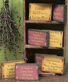 Primitive Wood Crafts | Bing : Primitive Wood Crafts | Janine