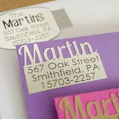 Make your own fun, unique, and personal return address labels with your Silhouette!  Perfect for wedding or party invites, or just because!
