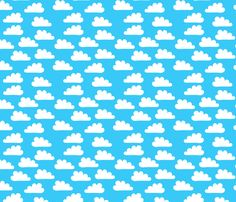 Happy Clouds fabric by Carinaenvoldsenharris.