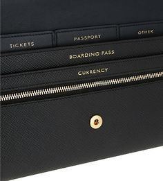 SMYTHSON - Panama Marshall leather travel wallet | Selfridges.com