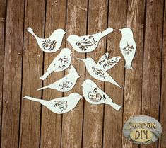 """Laser Cut Chipboard """"Set of """"Winged patterns"""" by SiberianDIYcraftsArt on Etsy Creative Embroidery, Felt Birds, Quilling Patterns, Cat Accessories, Paper Stars, Kirigami, Scrapbook Paper Crafts, Paper Decorations, Art Plastique"""