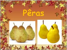 Apresentação frutos do outono Pear, Autumn, Fruit, Kids, Fall Preschool, Fall Winter, Autumn Activities, Images Of Fruits, Crafts