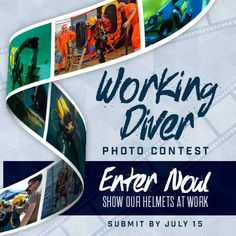ENTER NOW, There's still time!  Working Diver Photo Contest. http://woobox.com/fhn5mp 1ST PLACE - Kirby Morgan watch. TOP 5 - Kirby Morgan swag bag