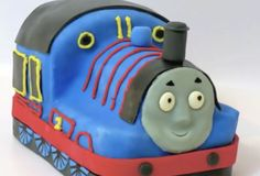 Thomas Party Cake is easy to make in your kitchen! Step-by-step video shows how, http://www.thomastrainrides.com/fun-and-games.html#03jun15
