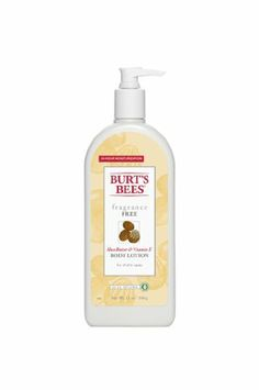 Burt's Bees Fragrance Free Shea Butter & Vitamin E Body Lotion - 12 oz Lotion For Dry Skin, Moisturizer For Dry Skin, Body Butter, Shea Butter, Cupuacu Butter, Baby Skin Care, Milk And Honey, Burts Bees, Body Lotions