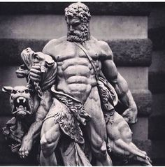Cerberus the three headed dog of Hades and a battle with Hercules