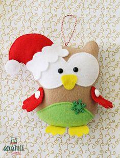 Santa owl ^_^
