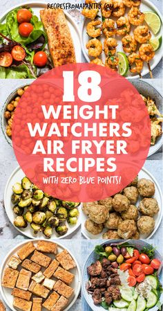 With the air fryer, you can enjoy delicious healthy, low calorie meals, sides and snacks! These Weight Watchers Air Fryer Recipes are all Zero Blue Plan Smartpoints (zero freestyle smart points) and tasty, simple and easy! Get inspired to eat healthy with these tasty satisfying air fryer recipes - included fish, shrimp, chicken and breakfast recipes. #airfryer #airfryerrecipes #wwrecipes #zeropointrecipes #healthyrecipes  #ww #lowcalorierecipes  #weightwatchers #recipes… Easy Potluck Recipes, Rib Recipes, Lunch Recipes, Healthy Dinner Recipes, Breakfast Recipes, Easy Meals, Noodle Recipes, Turkey Recipes, Delicious Recipes