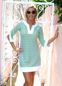 Joy of Palm Beach JUDE CONNALLY Holly Dress ~ Kelly Retro Geo |