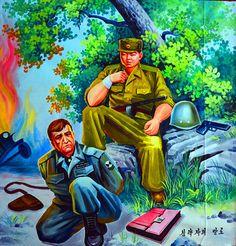 North Korean troop with a captured US soldier Red Scare, Book Wallpaper, Korean War, Communism, Socialism, Weird And Wonderful, Military Art, North Korea, Werewolf