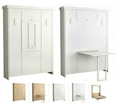 30 Space Saving Folding Table Design Ideas for Functional Small Rooms – Lushome Murphy Bed Ikea, Murphy Bed Plans, Murphy Bed With Desk, Space Saving Beds, Space Saving Furniture, Folding Furniture, Diy Furniture, Furniture Design, Guest Bedroom Colors