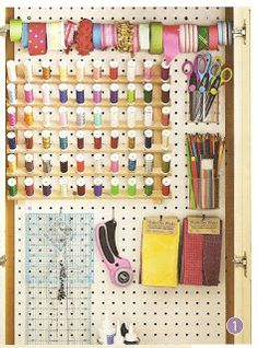 Crafty Sisters: Pegboard Organizing  Really like this idea