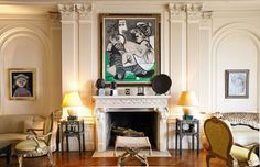 Three paintings by Picasso, interior by Nicky Haslam