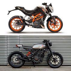 Antes e depois - Urban - KTM 390cc 0km.