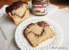 Bizcocho marmolado con Nutella #ResposteríaFácil #RecetasdeCocina #RecetasFáciles #Postres #Bizcocho #Nutella