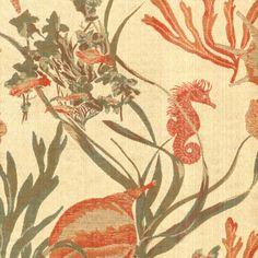 A Summer Home: Coastal, Beachy, Tropical, and Nautical Fabrics  Find this design and fabri--GREEN