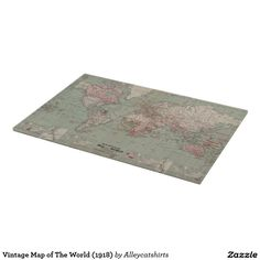 Vintage Map of The World (1918) Cutting Board