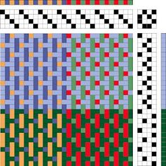 Draft for weaving turned taquete towels on a 4-shaft loom