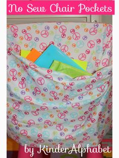 """""""Use pillowcases! If you use the ones with patterns there will be no need to decorate them."""""""