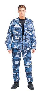 Military Fatigues (BDU's) Sky Blue Camo Pants Sky Blue Camouflage $28.98